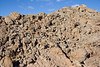 A jumble of concretions<br /> <br /> When the softer silt and clay in which these concretions are embedded washes away, the harder lumps are left behind in heaps. The hillside literally disolves out from underneath them.