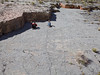 Kids at play<br /> <br /> This tilted limestone bedding plane made a great flat surface to run up and down