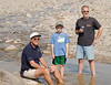 Wading in the desert<br /> <br /> Bill, Enzo and Peter cool their heels.