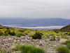 Looking down Hanaupah wash across the recently replenished Lake Manly to Badwater on the far side of Death Valley