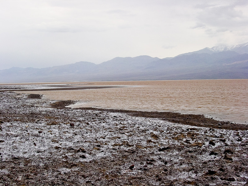 Lake Manly<br /> <br /> After the unusually heavy rain, the bottom of Death Valley filled for water, for the first time in decades
