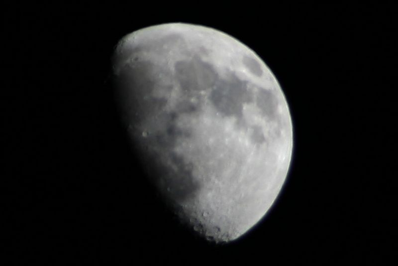 My first attempt at a Moon shot. <br /> <br /> Hmmm, appears to be some tripod vibration.