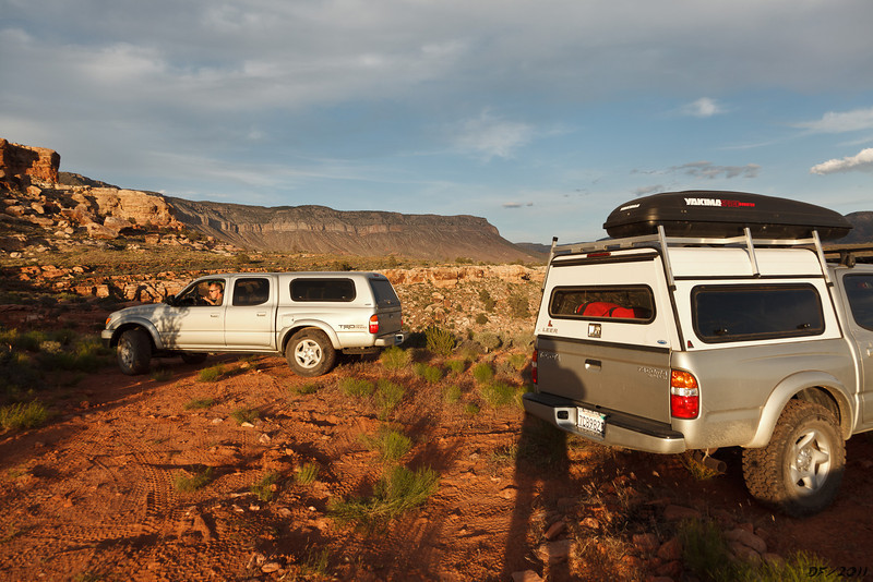 Camp for the first night, at the entrance to Hidden Canyon