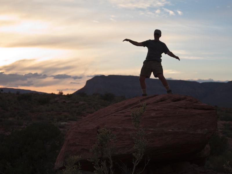 Peter boulder surfing