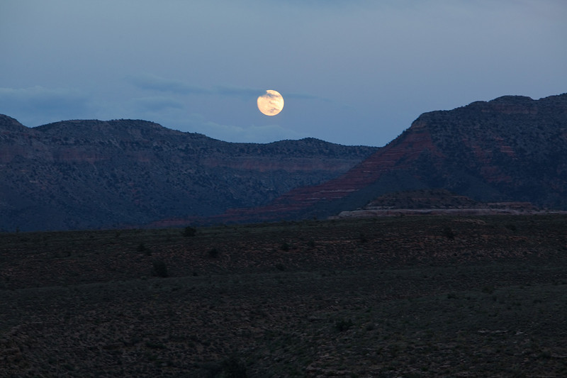 Moonrise, Hidden Canyon