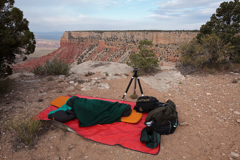 My cozy nest on the edge of the cliff at Twin Point<br /> <br /> The sounds of the wind in the trees at cliff edge during the night, with swallows buzzing past in the moon light is something I will remember for a long time