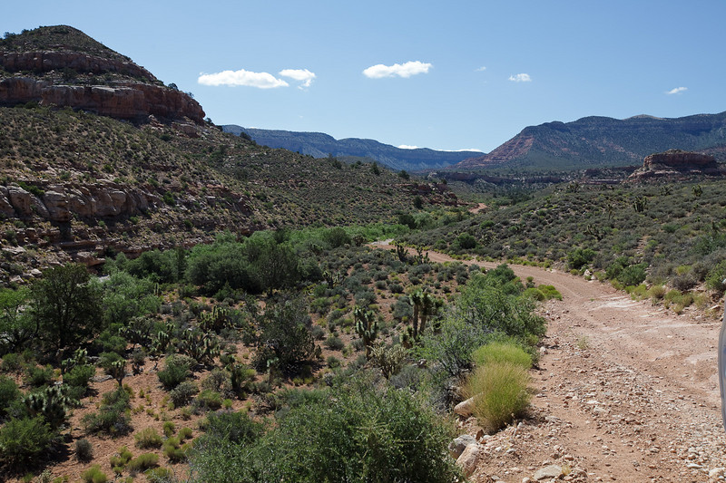 The road up to Hidden Canyon
