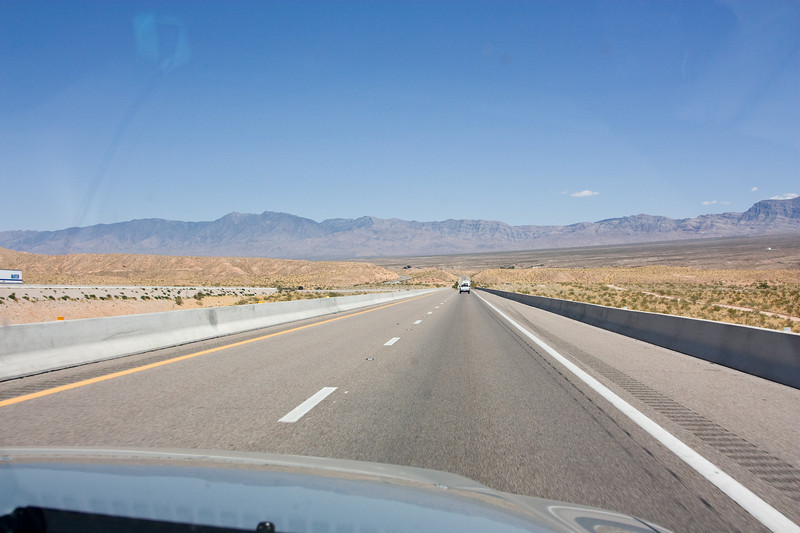 I-15 approaching Virgin River Gorge