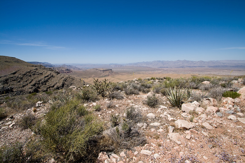 A little bit of Lake Meade is visible in the left-center of the image