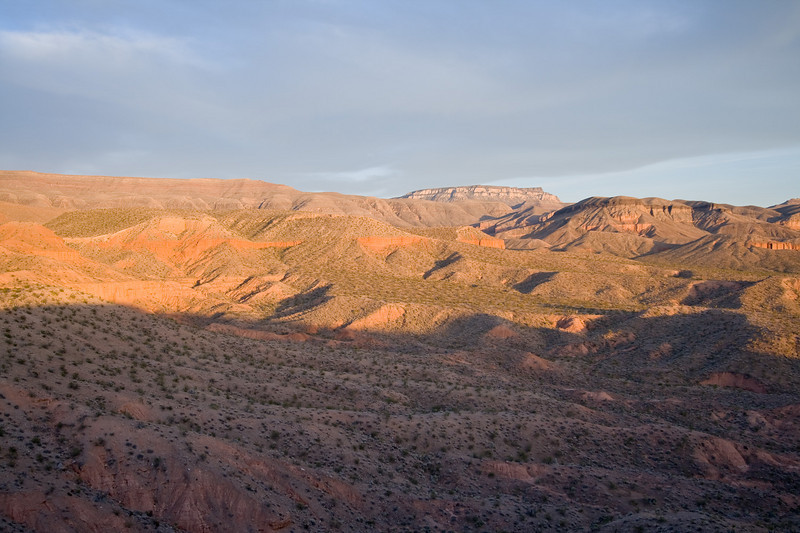 The evening sun on the red mudstone cliffs was incredible