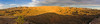Badlands Panorama<br /> <br /> With the last rays of the setting sun on the mountains behind us