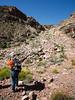 Looking back up the decrepit mine road