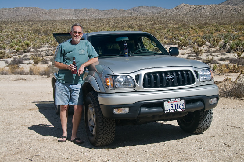 Peter and his new used truck <br /> <br /> First Tracks in the Anza Borrego Desert