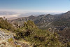 View of the south end of Death Valley<br /> <br /> Note the little white patch in the right 1/3 of the frame...