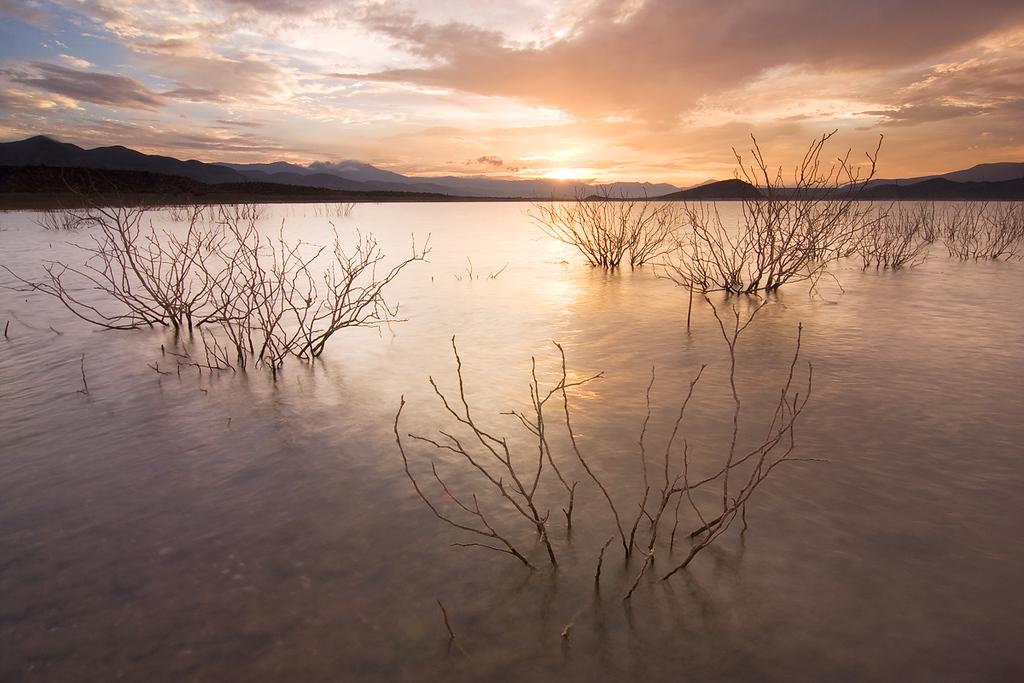 Sunset 1, Roosevelt Lake from Cottonwood Cove