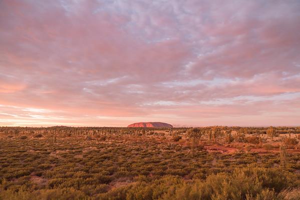 Sunrise in Uluru, Australia.