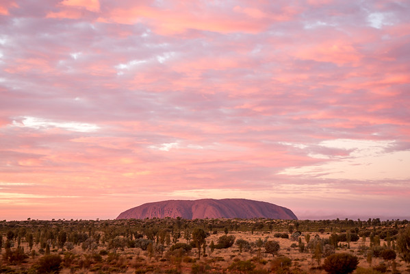 Sunrise over Uluru, Australia.