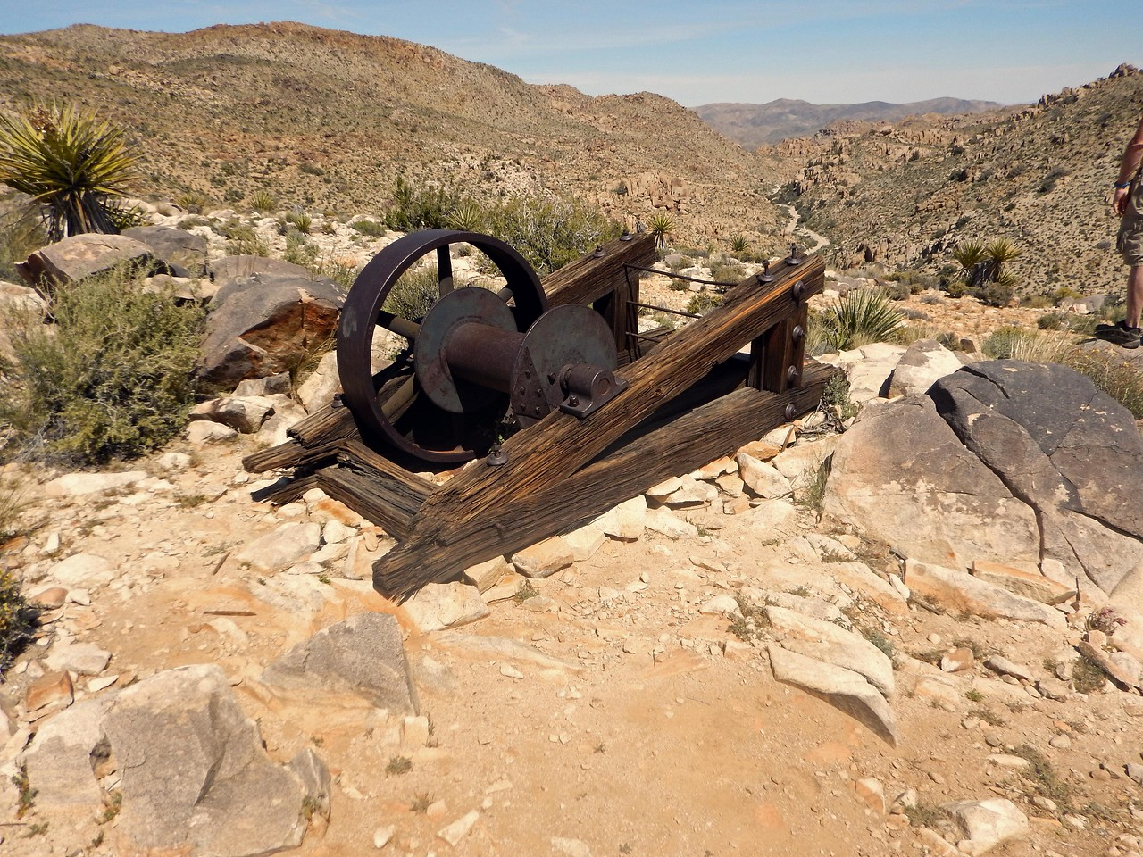 piece of machinery from the mining days