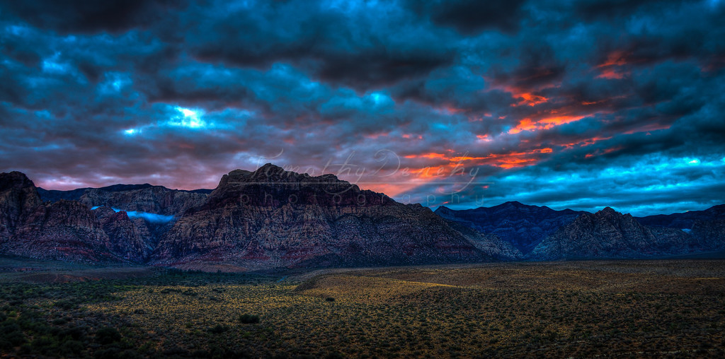 Red Rock Canyon at dusk