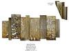 Aurea Elevation-Douglas, 89.5x40x4 painting with mixed media on metal,HS14-805-DOUG