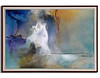 Spectral Falls-Hollack, 65x45x2.5 painting with mixed media on acrylic with frame,HS15-756-HOLL