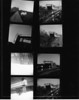 Second contact sheet.  I didn't have any 120 neg sleeves so I had to cheat an use some 4x5 sleeves I had on hand.  Rest of the roll.  Amy makes a guest apperance in the shot in the upper right, but she's very small and hard to see.  The frame at the bottom right is the one I picked to print first - though the frame on the top of the right column looks like a better exposure.  The two upside down ones in the lower left were once the sun started going down and I knew my roll was about up.  Didn't think I'd overexpose them though - guess I over compensated for the fading light.  I also didn't have any 120 neg sleeves so I had to comprimise and cut these into pairs which slid into some 4x5 sleeves I did have on hand.