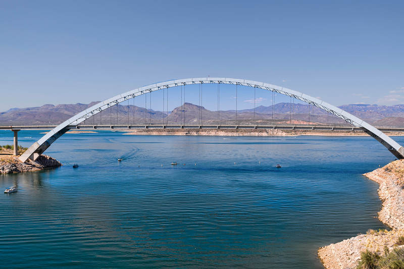 Bridge at Lake Roosevelt, Arizona.