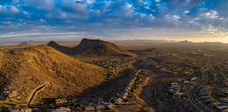 Scottsdale aerial near sunset