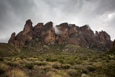 Moody Superstition Mountains