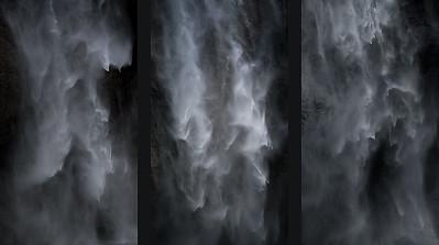 Upper Yosemite Falls Triptych