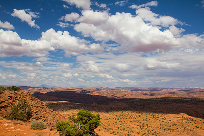 This beautiful landscape as seen from the Egypt Trailhead. In the distance looking out over the Escalante River Canyon towards the Henry Mountains.