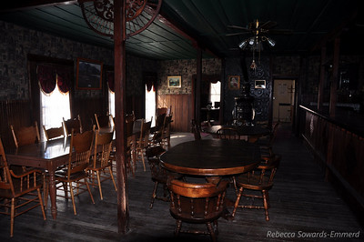 Inside the saloon.