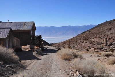 Main Street Cerro Gordo, view across to the Sierra, Owens (pretty much dry) lake far below.