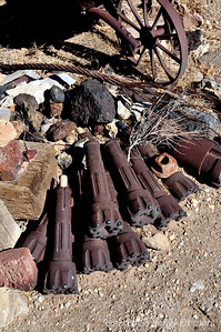 Drill bits outside the museum
