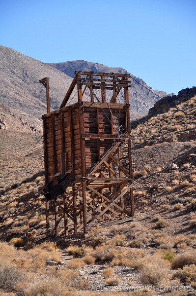 The road into Cerro Gordo (Fat Hill) is steep and narrow, with occasional signs of the bustling mining operation that once occurred in this area.
