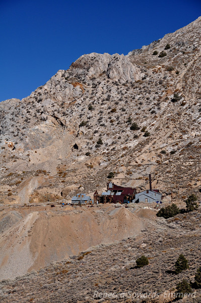 The mine at Cerro Gordo. Still being worked by the caretaker.