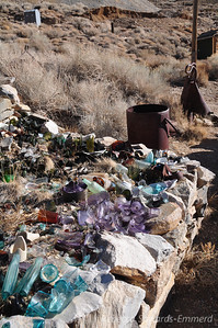 Outside the museum - debris gathered from the ghost town
