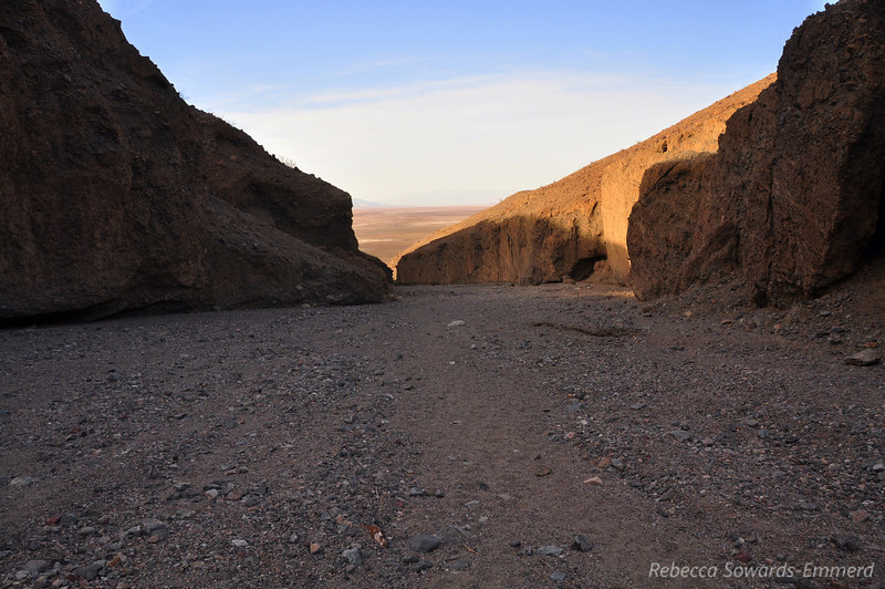 Looking back towards the entrance to Sidewinder. This is a steep canyon with a constant elevation gain on the hike in.