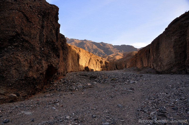 At the entrance to Sidewinder Canyon