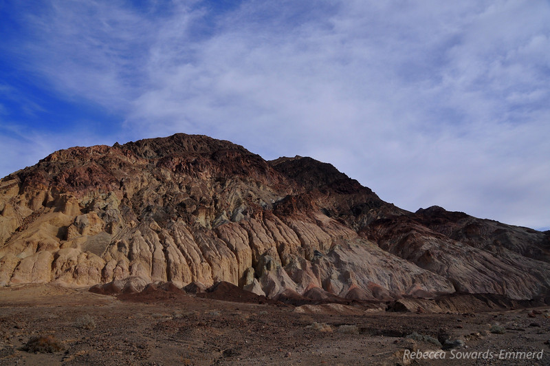 Nice erosion patterns in the hills.