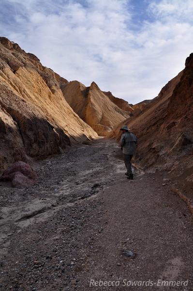 David heading into the canyon