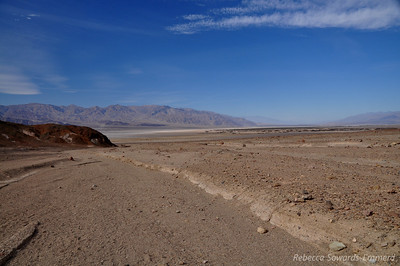 The walk to the mouth of the canyon crosses extremely desolate terrain. Very little plant life around here.