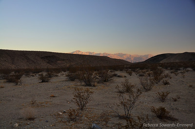 Telescope Peak sunset glow from our campsite on November 21.