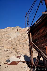 Ruins of tram system - see the cables still running up the hill