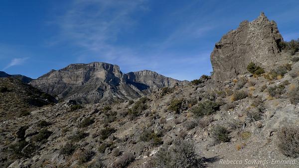Nearing the ridge.