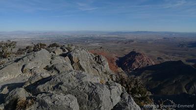 Summit views - hey that's the Vegas strip!