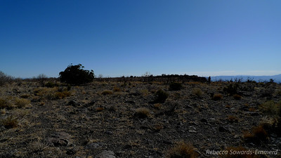 On the summit plateau. It's big and flat - nothing like most peaks!