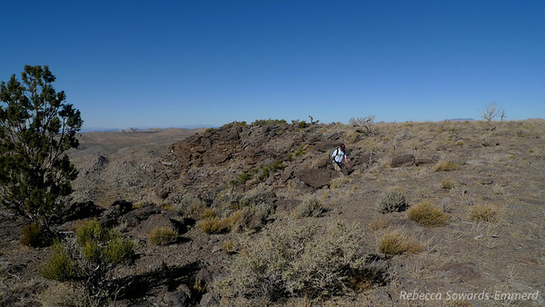 Gordon gains the summit plateau.