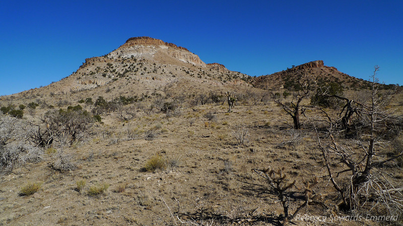 Pinto Peak. That actually isn't the Peak - it's a rounded summit hiding behind the volcanic ridge.