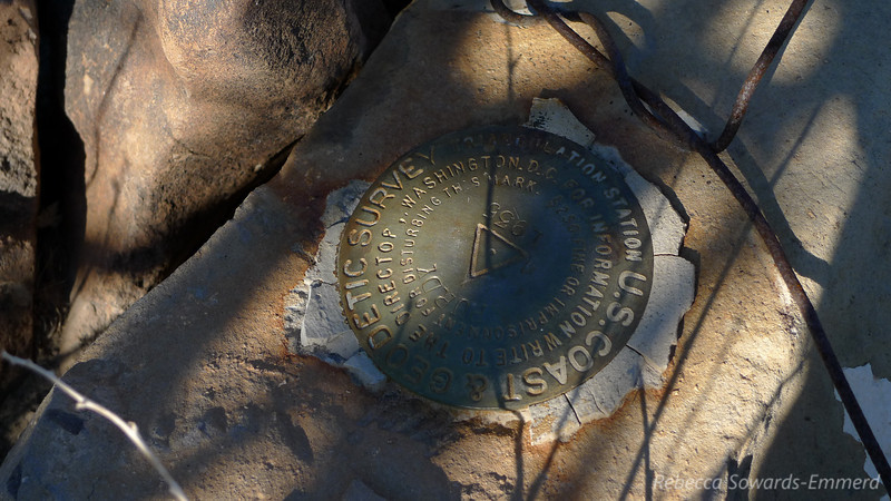 Summit benchmark. The peak is labeled Purdy, but on maps it appears as both Purdy and Pinto.